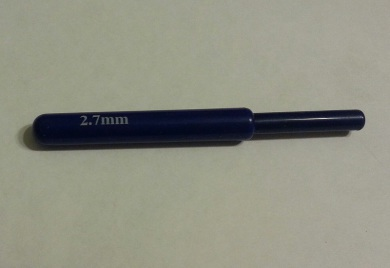 крючок для вязания, 2.7 мм, в сборе