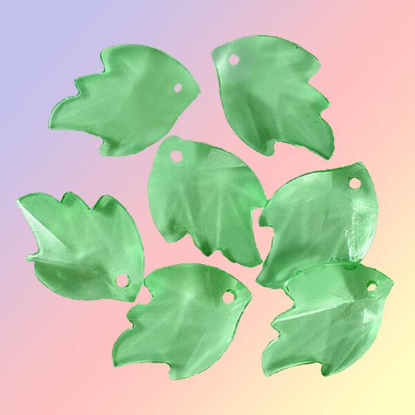 бусины листья граненые
