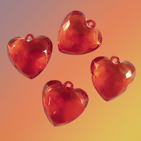 сердечки бусины