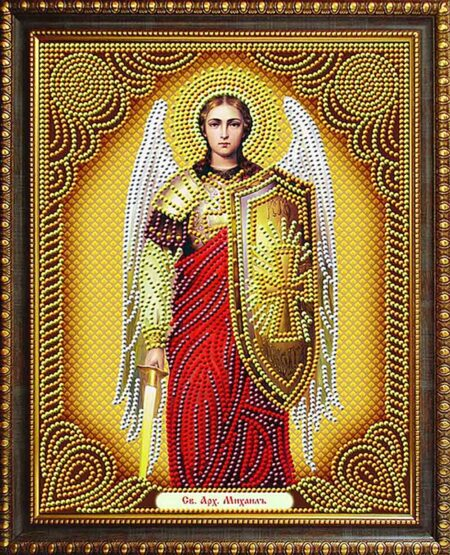 святой-архангел-Михаил-алмазная-мозаика