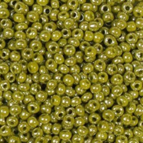Бисер-круглый-оливковый-122-размер-6