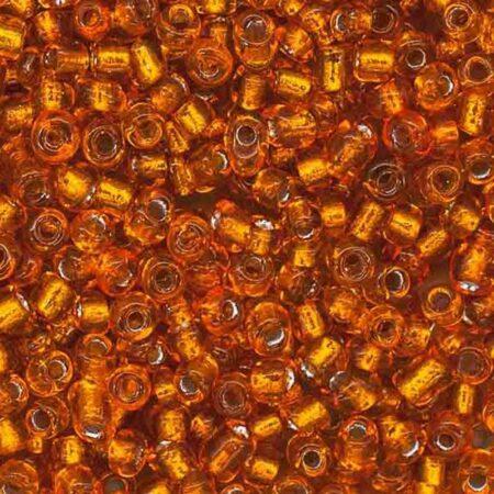 Бисер круглый темно оранжевый 29B размер 6