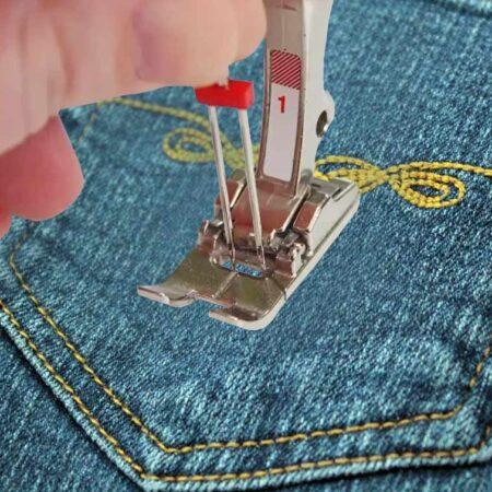 Учимся правильно шить двойной иглой